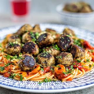 Vegan Aubergine 'Meatballs'.