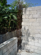 Photo: Mai 2011: Montage des cloisons intérieures