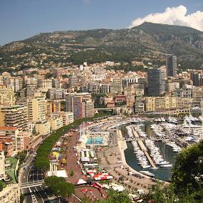 Côte d'Azur by Els He - City,  Street & Park  Vistas ( town, france, bay, europe, holiday, monte carlo, côt d'azur, summer, monaco,  )