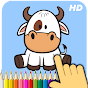 Animals coloring book icon