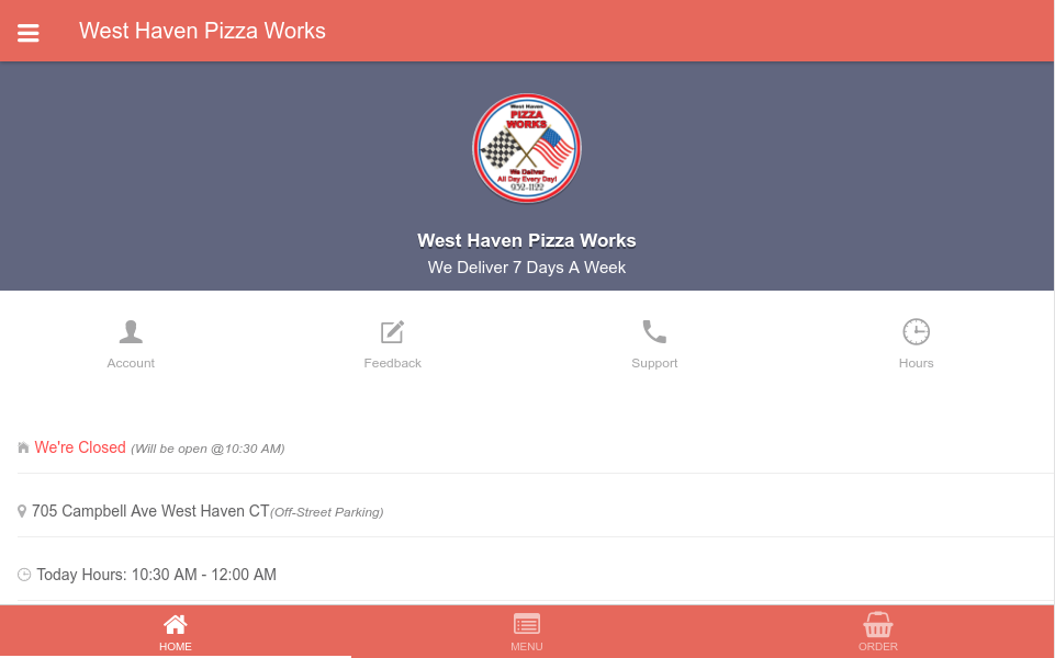 West Haven Pizza Works- screenshot
