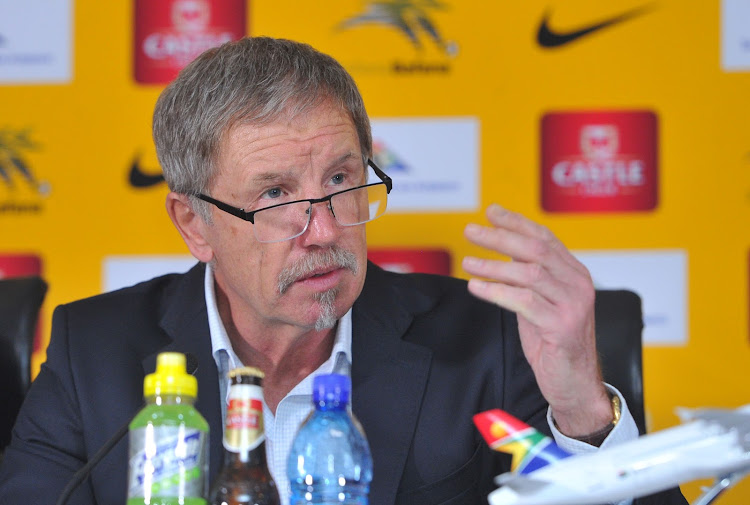 Bafana Bafana head coach Stuart Baxter addresses the media on October 1 2018 at Safa House in Johannesburg after he announced the SA squad to take on Seychelles in back-to-back 2019 Africa Cup of Nations qualifier next week.