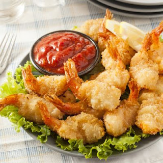 Oven-Fried Shrimp And Marinara Sauce
