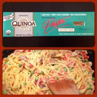 Spaghetti Carbonara With Quinoa Pasta.
