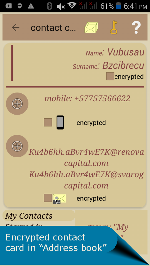 Latebra cryptographic app- screenshot