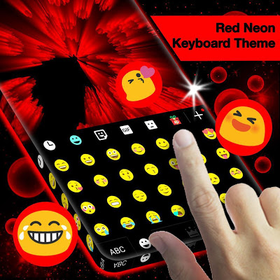 Red Neon Keyboard Theme - screenshot