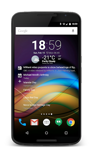 Chronus-Informations-Widgets screenshot 3