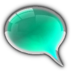 GO SMS Cyan Glass Theme icon