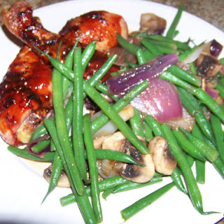 Green Beans and Pan Roasted Onions