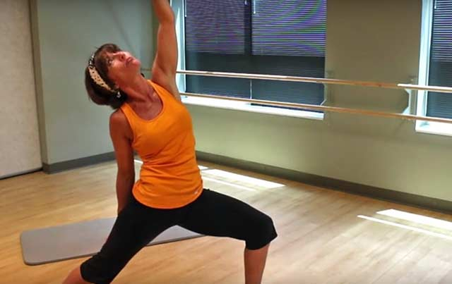 Peaceful warrior yoga