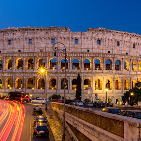Colosseum by David Marjanovic - Buildings & Architecture Public & Historical ( lights, rome, blue hour, historical, architecture, roman )