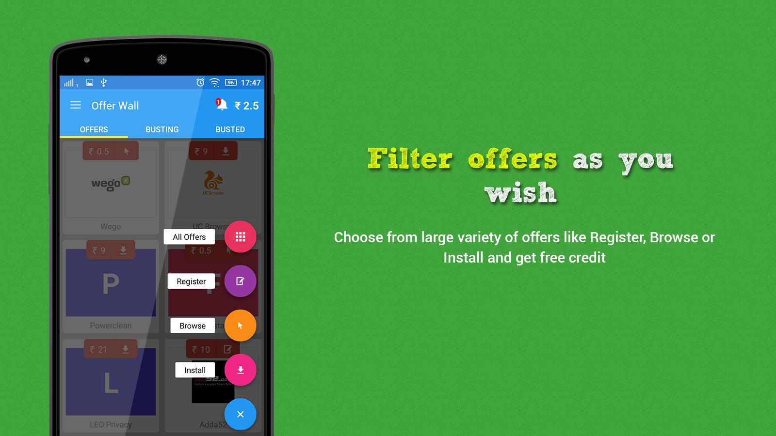 Free Buster - Mobile Recharge- screenshot
