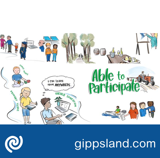 Able to participate: All East Gippslanders have access to economic and educational opportunities
