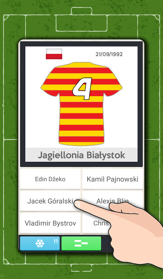 Players' dorsals football quiz- screenshot