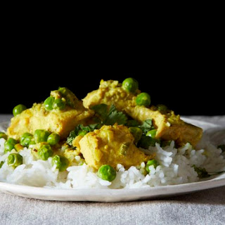 Salmon with a Thai Curry Sauce.
