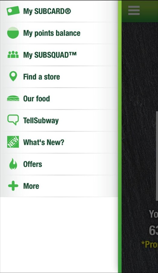 SUBWAY® SUBCARD® UK & Ireland- screenshot