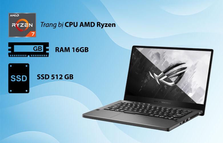 Laptop ASUS ROG Zephyrus G14 GA401QC-HZ022T 90NR05T6-M00500 | Hiệu năng mạnh mẽ