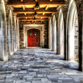 Outer Hallway at Idlewild Presbyterian Church in Memphis,Tennessee by Billy Morris - Buildings & Architecture Other Exteriors ( billy morris,  )
