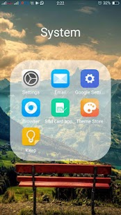 iLauncher for Android - náhled