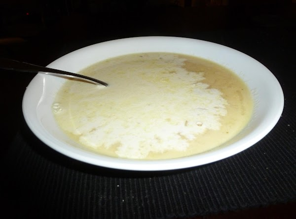 For serving, place some cream in each bowl (about 1/4 cup depending on personal...