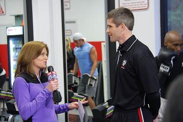 Instructor Corey Ritter speaking on Fox 5 News