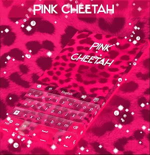 Pink Cheetah Keyboard Theme - náhled