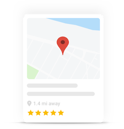 map card with specific location, description and rating