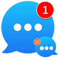 Messenger : Messages ,text and video chat icon