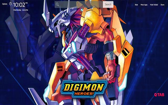 Digimon Wallpapers Theme New Tab