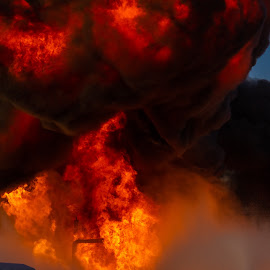 Gasoline Explosion 4 by Colin Toone - Abstract Fire & Fireworks ( cloud, firefighter, smoke, fire, plume )