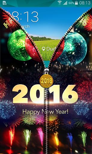 玩免費個人化APP|下載New Year 2016 Zipper UnLock app不用錢|硬是要APP