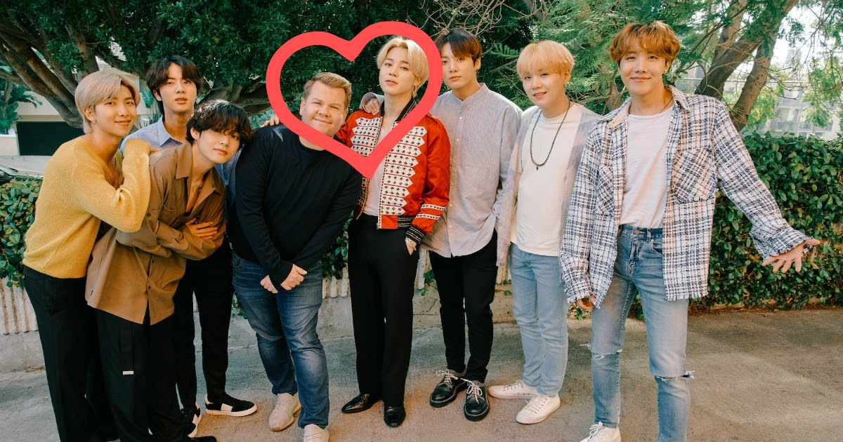 Jimin and James Corden from BTS combine their Gucci looks