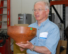 Photo: Phil shows the form of his cherry salad bowl.