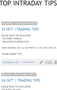 TOP INTRADAY TIPS - náhled