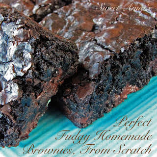 The Best Fudgy, Homemade Dark Chocolate Brownies From Scratch.