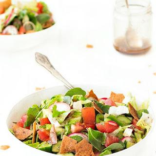Fattoush- Traditional Lebanese Salad.