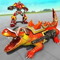 Monster Crocodile Robot Rampage City Attack icon