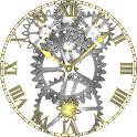 Brass Gears Clock LWP Paid icon