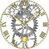 Brass Gears Clock LWP Paid