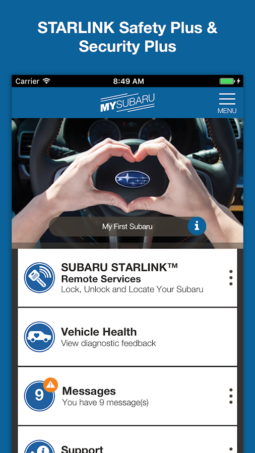 MySubaru- screenshot