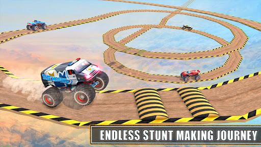 Monster Truck Stunt Race : Impossible Track Games apkbreak screenshots 1