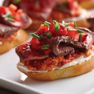 Grilled Filet Mignon Crostinis.