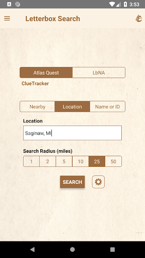 Screenshot for Clue Tracker for Letterboxing in United States Play Store