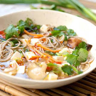 Simple Miso Soba Soup.