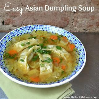 Easy Asian Dumpling Soup.
