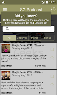 Stogie Geeks (Audio)- screenshot thumbnail