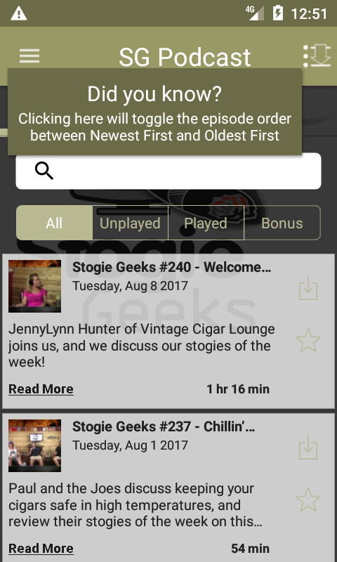Stogie Geeks (Audio)- screenshot
