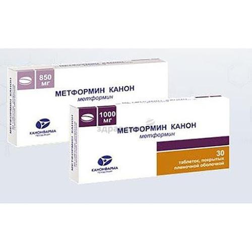 Метформин Канон таблетки п.п.о. 1000мг 60 шт.