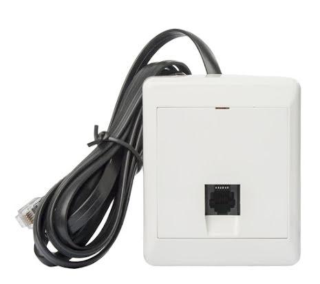 Modularuttag 6-pol inkl kabel