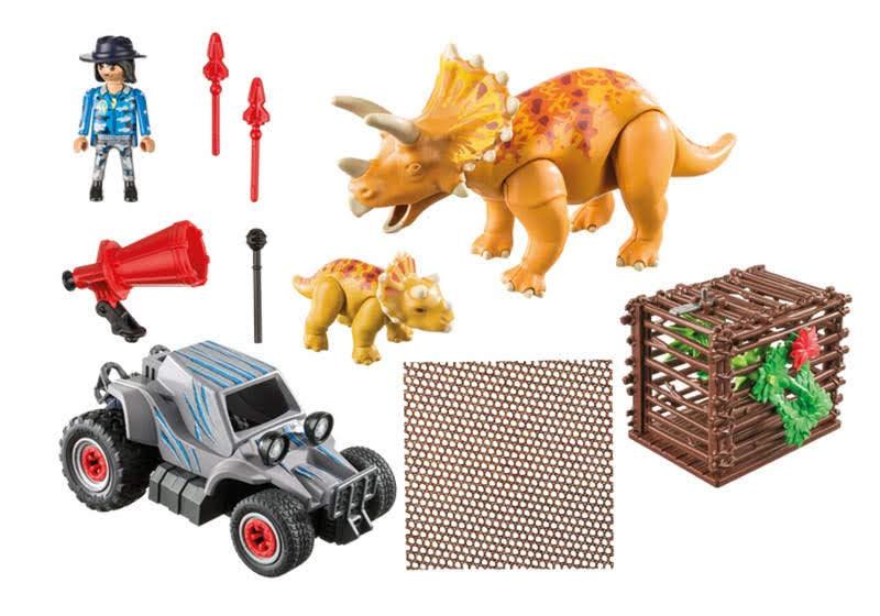 Contenido Real de Playmobil® 9434 Coche con Triceratops